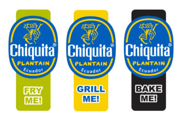 Chiquita bananas plantains stickers