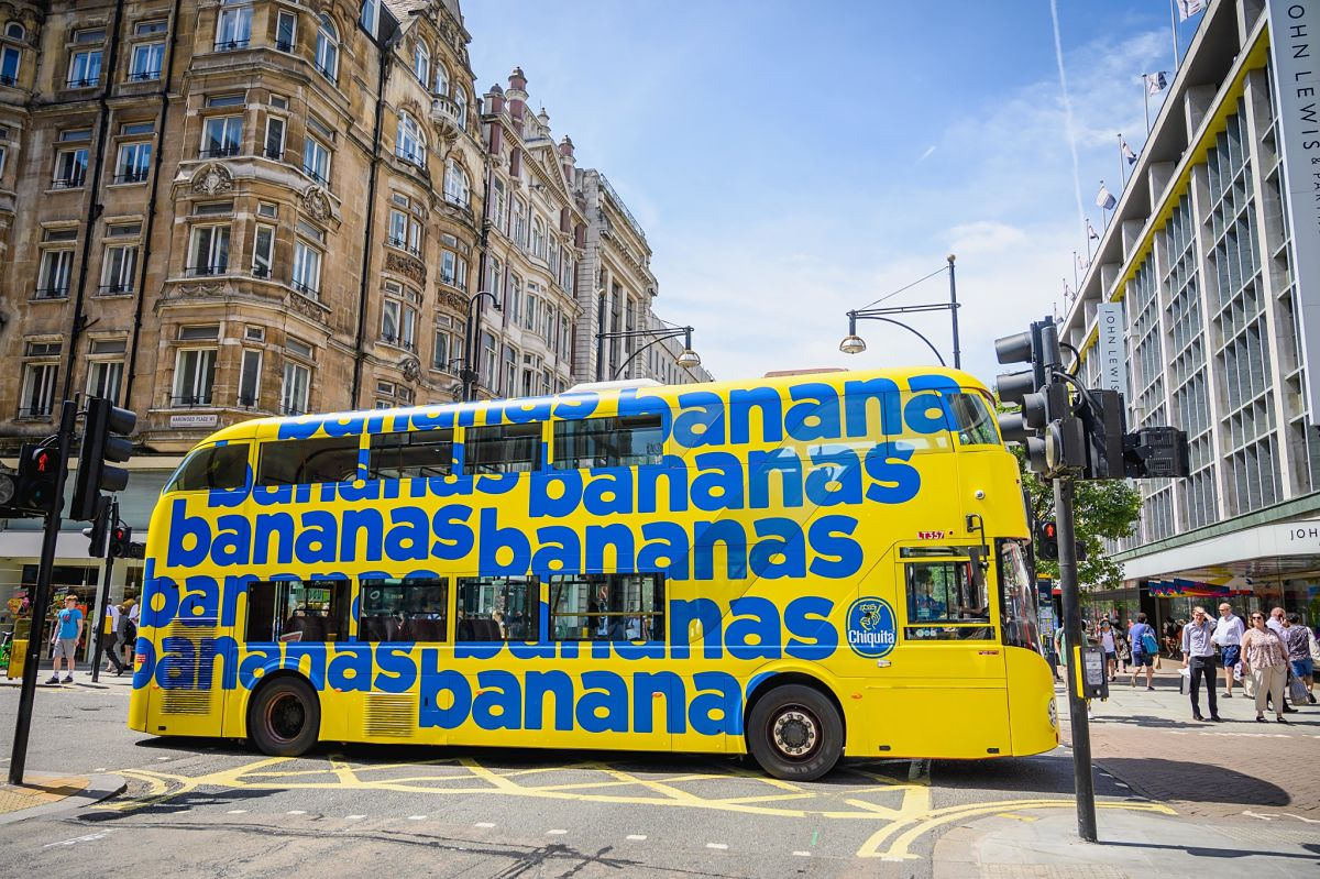 Chiquita Rolls Out in London's Streets with Branded Banana Buses